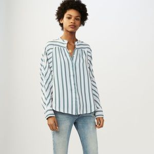 MAJE Coquille Striped Long Sleeve Blouse 1/S